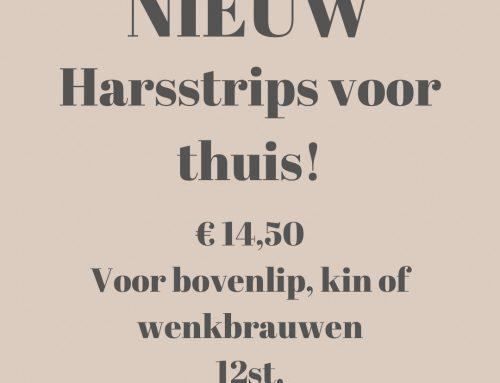 Hars/wax strips voor thuisgebruik.